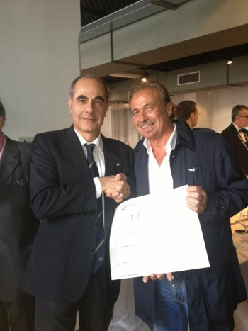 Il referente per la Sardegna, Pier Paolo Fiori, con Dino Addis
