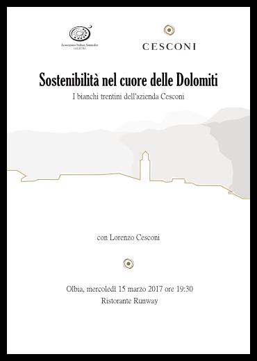 Sostenibilità nel cuore delle Dolomiti - I bianchi trentini dell'azienda Cesconi a Olbia