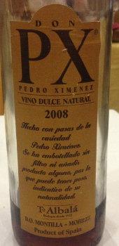 Pedro Ximenez Toro Albalá Don PX - 2008